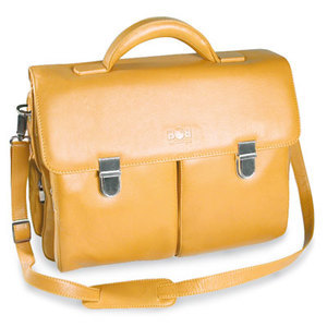 Leather bag pc BESTOVEST FLORENCE yellow