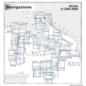 Navimap marine chart FR104-IT101
