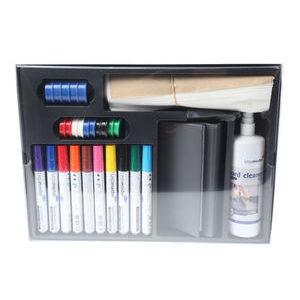Legamaster White Board Accessory Set 1255-00, Black, Blue, Brown, Green, Light Blue, Orange, Pink, Purple, Red, Yellow