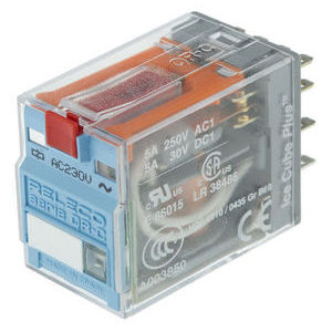 4PDT PCB Mount Non-Latching Relay Tab, 5 A, 230V ac