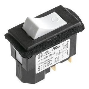 IP54 DPST Rocker Switch, On-Off, 16 A@ 230 V ac 45.2mm 21.7mm