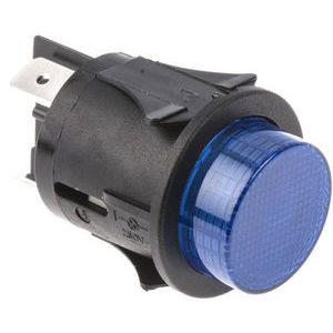 Push Button Switch, 25mm, DPST-NO, Panel Mount, Latching , Illuminated