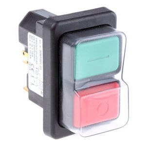 Push Button Switch, IP65, 21.7 x 45.2mm, DP, Panel Mount, On-Off