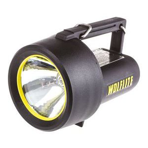 Wolf Safety Rechargeable Handlamp, 2.8W, Halogen, 5 m Beam, Focusing, with batteries