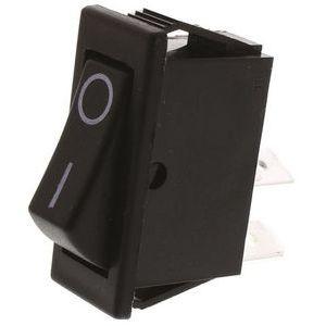 SPST Rocker Switch, On-Off, 16 A@ 250 V ac 30mm 11mm
