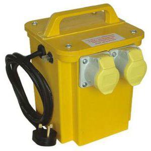 Carroll & Meynell, 1.65kVA CM33002 Single Phase Safety Site Transformer, 230V ac, ±55V ac, 10A