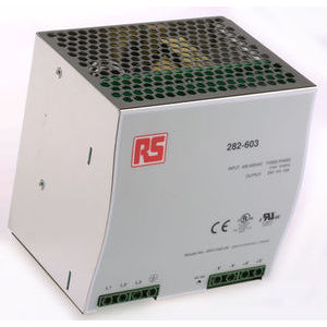 1 Output Switch Mode DIN Rail Panel Mount Power Supply, 24V dc, 10A