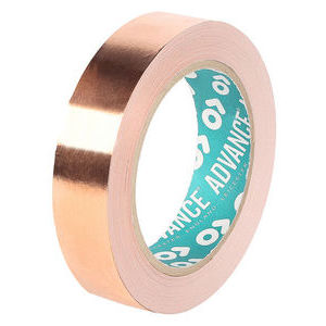Advance Tapes 0.035mm Thick Conductive Copper Tape, 10mm x 33m, 4.5 N/cm