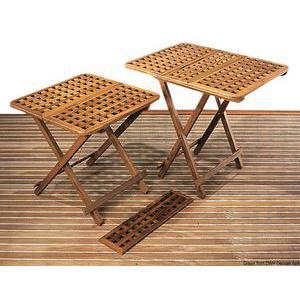 Teak foldable table 60x60cm
